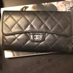 Channel Quilted Wallet